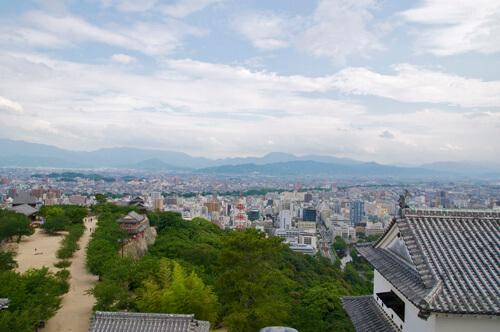 21松山城内からの展望